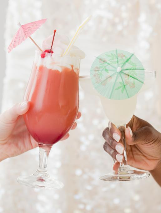 Do you like piña coladas? Then you'll like these paper umbrella versions of the daiquiri.