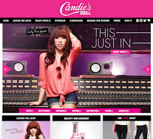 An SEO Fail For Candie's – A Big Brand Audit image homepage