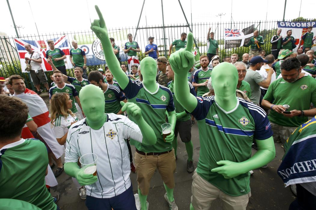 Football Soccer - Northern Ireland v Germany - Euro 2016 - Northern Ireland supporters