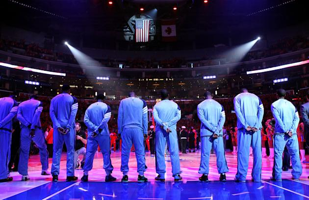 The Memphis Grizzlies Stand Getty Images