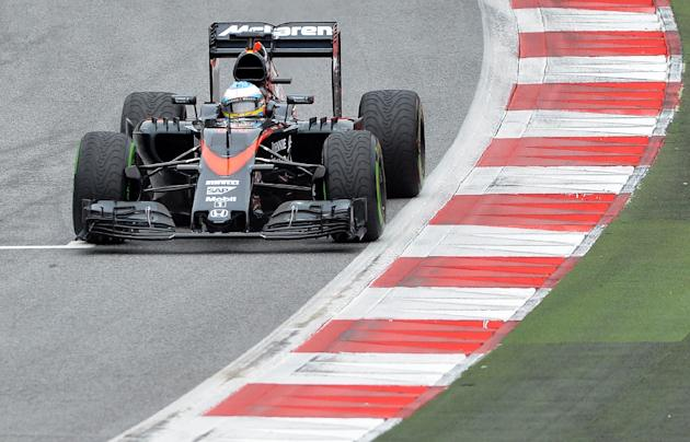 McLaren Honda's Spanish driver Fernando Alonso competes during the qualifying at the Red Bull Ring in Spielberg on June 20, 2015
