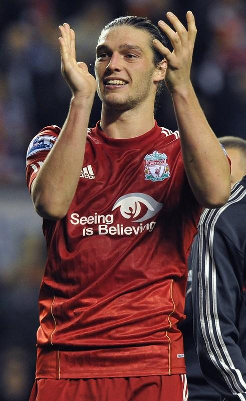 Liverpool's English Forward Andy Carroll Applauds AFP/Getty Images