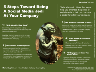 Learn To Be A Social Media Jedi In 5 Steps image 5 Steps Toward Being A Social Media Jedi At Your Company