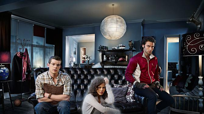 George (Russell Tovey), Annie (Lenora Crichlow) and Mitchell (Aiden Turner) in BBC America's Being Human - 2009