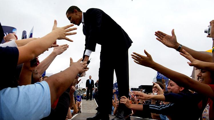 "A scene from the documentary ""By The People: The Election of Barack Obama"""