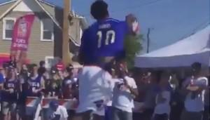Joel Embiid Ruthlessly Blocks Tiny Child's Shot Into Outer Space
