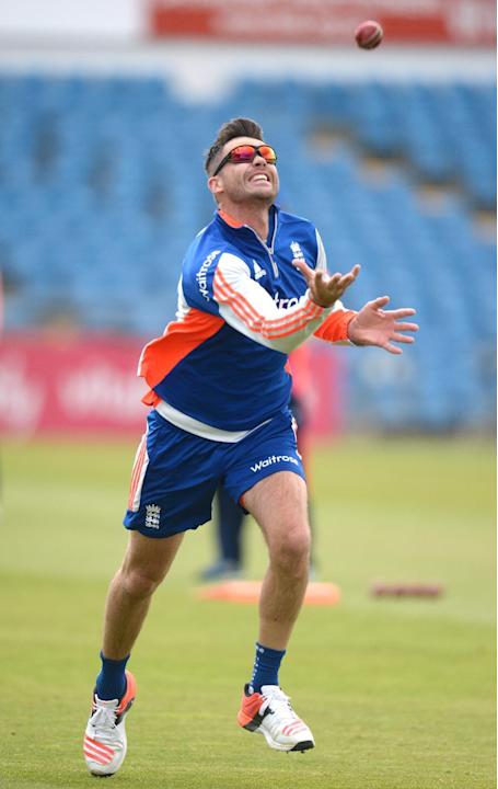 Cricket: England's James Anderson during nets