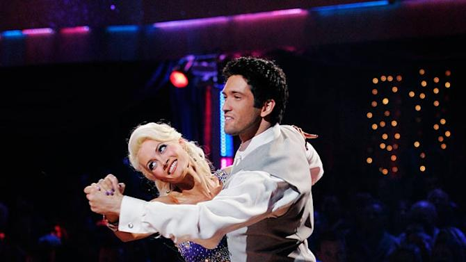 """Holly Madison and Dmitry Chaplin perform the Quickstep to """"We Are in Love by Harry Connick, Jr on """"Dancing with the Stars."""""""