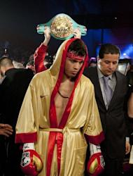 World Boxing Council middleweight champion Julio Cesar Chavez Jnr, seen here in November 2011, will be making the third defense of his first world title, won last June when he edged previously undefeated German Sebastian Zbik by majority decision