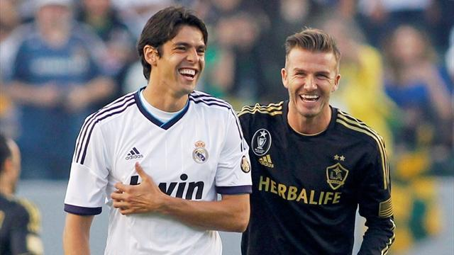 World Football - Beckham aids Galaxy in Kaka bid