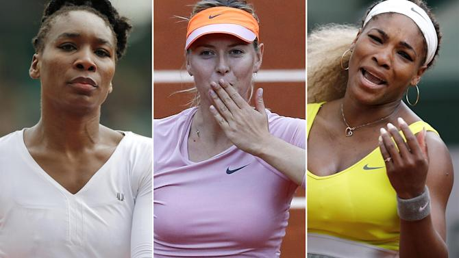 French Open - Serena, Venus ousted as Radwanska, Sharapova survive