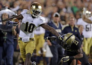 Receiver DaVaris Daniels is part of Notre Dame's investigation. (AP)