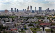 An aerial view of Warsaw and the Vistula River with the Swietokrzyski Bridge in May 2012. As its team prepares to take to the pitch at Euro 2012, tournament host Poland is bracing for its biggest security challenge in decades