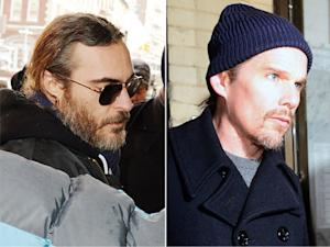 Joaquin Phoenix, Ethan Hawke Pay Respects to Philip Seymour Hoffman's Family: Pictures