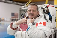 Canadian Space Agency astronaut Chris Hadfield is shown March 14, 2012 during a spacewalk training session at NASA's Johnson Space Center in Houston, Texas.