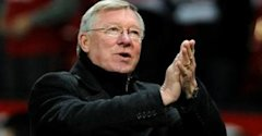 FOOTBALL Manchester United manager Sir Alex Ferguson applauds his side during a 4-1 win over Wolves at Old Trafford on Dec. 10 - 0