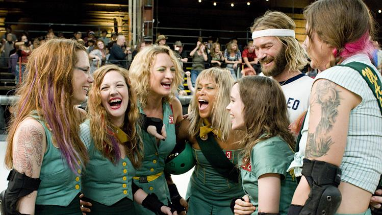Whip It Production Photos 2009 Fox Searchlight Pictures Kristin Wiig Drew Barrymore Zoe Bell Eve Ellen Page Andrew Wilson