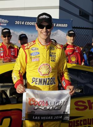 Joey Logano wins NASCAR pole in Las Vegas