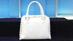 Forever 21's white satchel with gold hardware