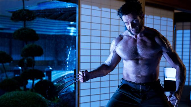 """This publicity photo released by Twentieth Century Fox shows Hugh Jackman as Logan/Wolverine in a scene from the film, """"The Wolverine."""" The film opens July 25, 2013. (AP Photo/Twentieth Century Fox, Ben Rothstein)"""
