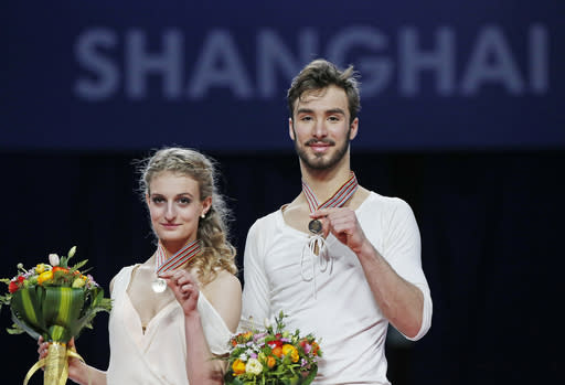 French pair wins ice dancing gold at figure skating worlds