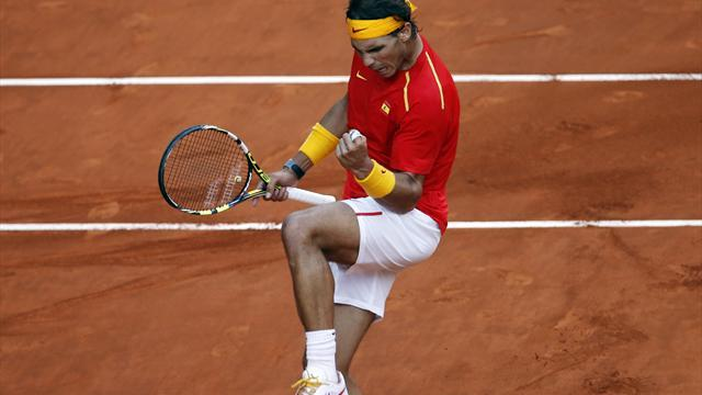Davis Cup - Nadal helps put Spain in control of play-off