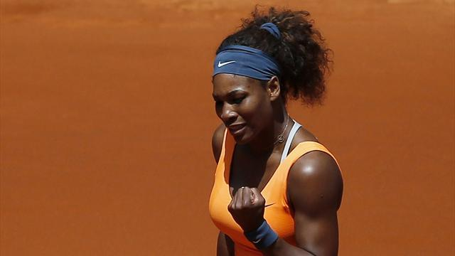 Tennis - Serena through to last eight in Madrid