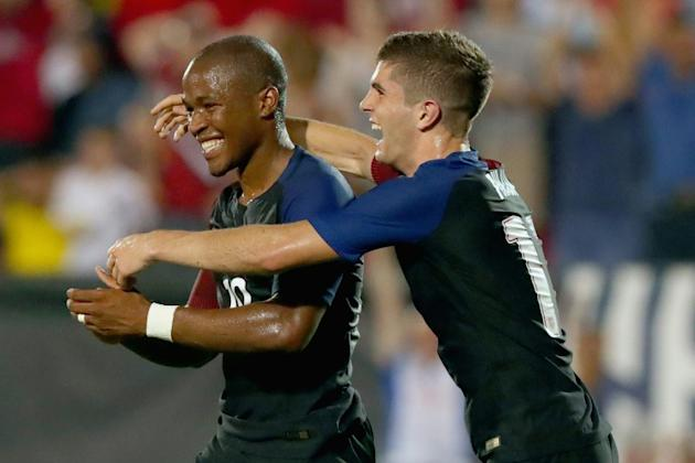 Darlington Nagbe netted his first goal for the American squad in dramatic fashion after becoming a US citizen last September