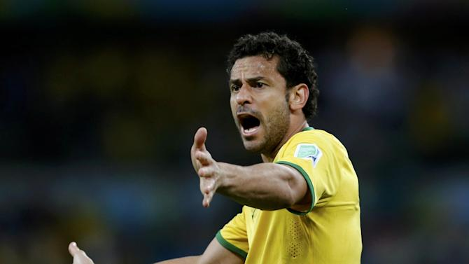World Cup - Fred quits international football, blames Brazil's demise on everyone