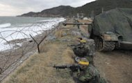 South Korean Marines take part in a military exercise on Yeonpyeong Island in 2011. North Korea has threatened to repeat its 2010 artillery attack on a border island, as South Korea prepares to mark on Friday the second anniversary of the shelling that left four dead
