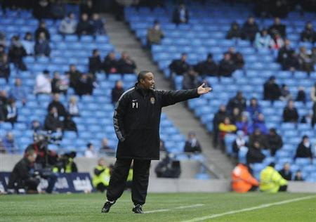 Notts County's coach Paul Ince reacts during their FA Cup soccer match against Manchester City at Manchester, northern England February 20, 2011. REUTERS/Nigel Roddis/Files