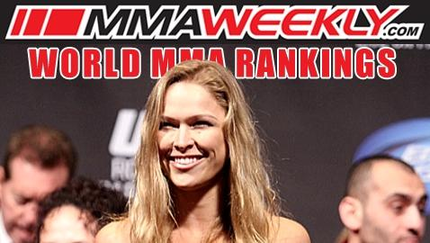 MMA Top 10 Rankings: Ronda Rousey Solidifies Spot as Top Pound-for-Pound Woman