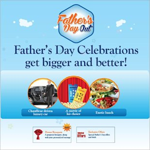 9 Cool Fathers Day Facebook Campaigns 2013 image Max Life Fathers day out