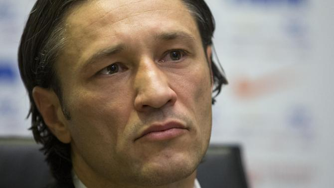 Newly appointed head coach of Croatia's national soccer team Niko Kovac attends a news conference in Zagreb, Croatia, Thursday, Oct. 17, 2013. Kovac succeeded Igor Stimac who was fired after a defeat from Scotland in a world Cup qualifier