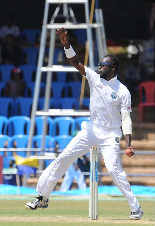 NO Miller of West Indies A team player in action, during the unofficial 1st Test Match between India A and West Indies A 3rd day at Gangothri Glades Cricket Ground, in Mysore on Sept. 27, 2013.(Photo: