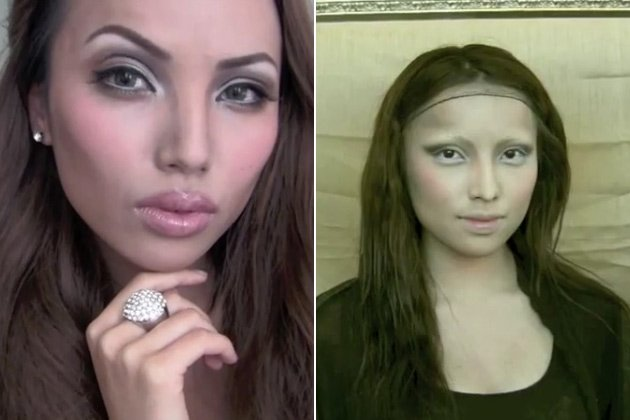 Promise Tamang Phan als Angelina Jolie und Mona Lisa (Screenshots: YouTube)