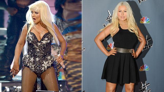 Christina Aguilera Debuts Slimmer Style