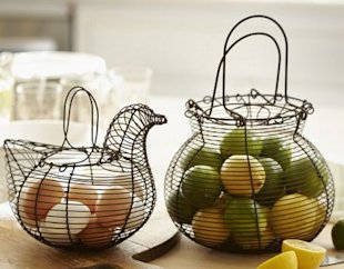 pottery barn baskets