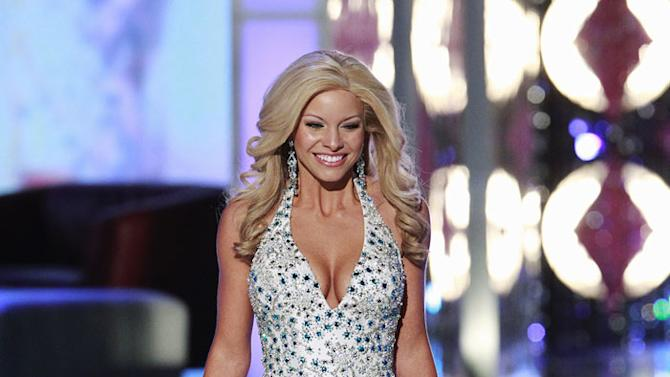 "Miss Delaware, Kayla Martell, competes in the evening gown competition during the ""2011 Miss America Pageant at the Planet Hollywood Resort & Casino on January 15, 2011 in Las Vegas, Nevada."