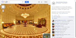 Social Media Strategy Review: Hospitality Industry image Oberoi Hotels Google Walkthrough on Facebook