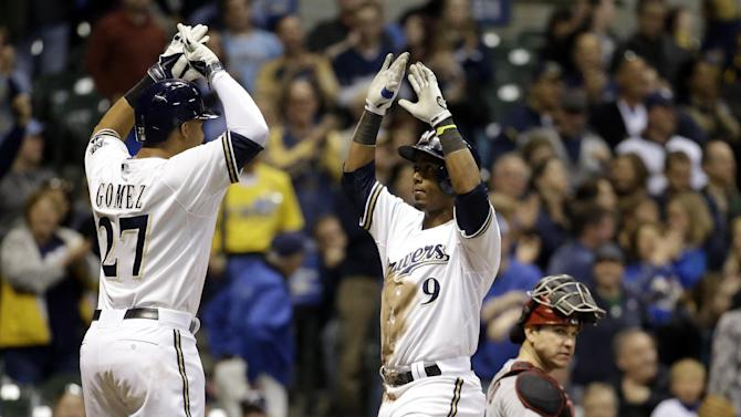 Gomez leads Brewers past Diamondbacks 8-3