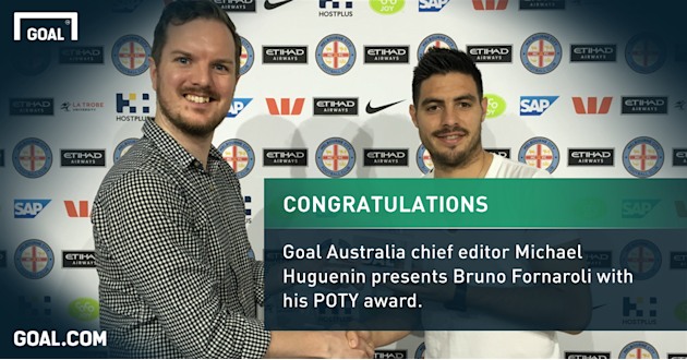 Bruno Fornaroli crowned Goal Australia's A-League Player of the Year