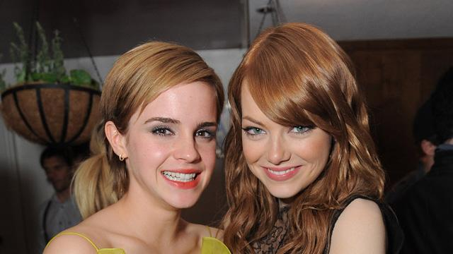 2011 MTV Movie Awards Backstage Emma Watson Emma Stone