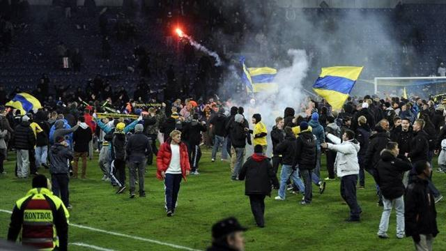 World Football - Ten arrested after Danish derby riot