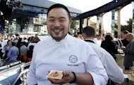 Korean-American chef David Chang -- the Korean-American chef named one of the world's 100 most influential figures by Time Magazine in 2010 -- drew crowds for his miso soup of fermented green French lentils, with black truffle