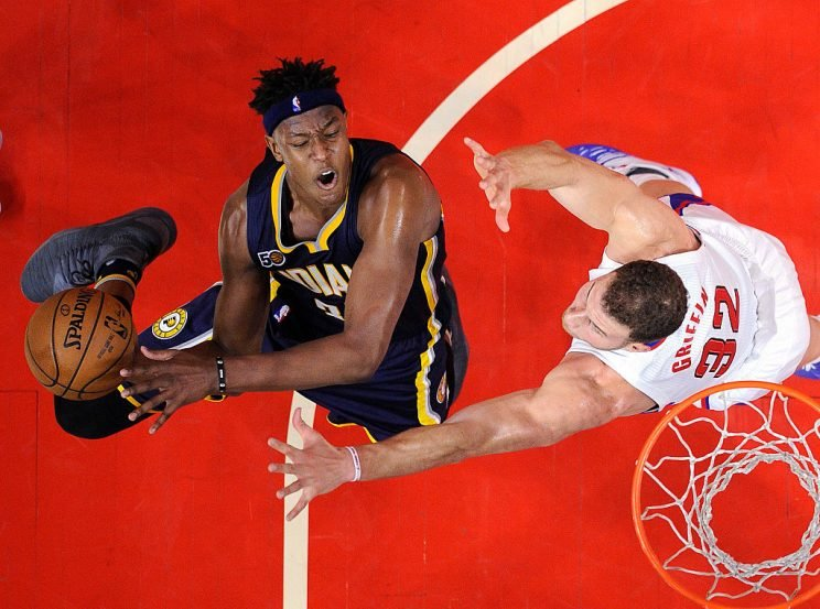 Myles Turner highlights this week's look at recent risers and fallers in fantasy hoops (Getty Images)