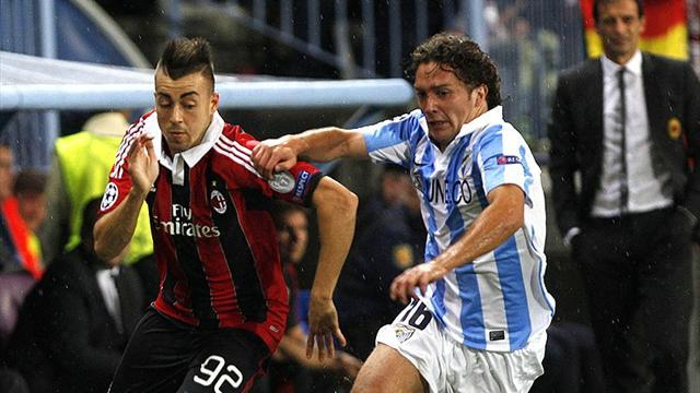 Champions League - Flying Malaga overcome struggling Milan