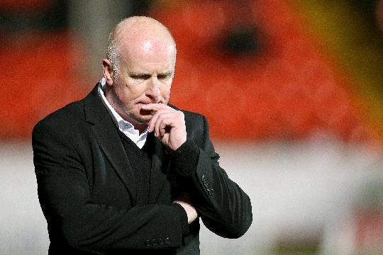 Peter Houston was left frustrated by a power cut at Fir Park