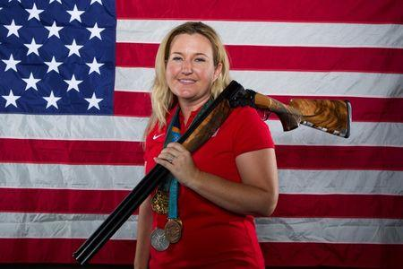 Shooting athlete Kim Rhode poses for a portrait in Dallas