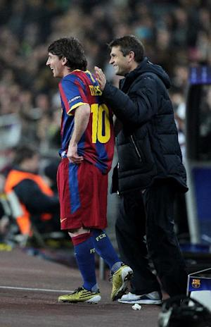 Tito Vilanova, right, hailed Lionel Messi, left, as 'the best in the world by far'